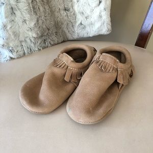 Freshly Picked leather baby moccasins